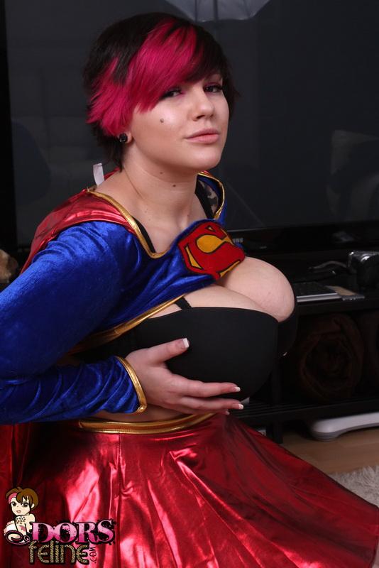 Superwoman big tits