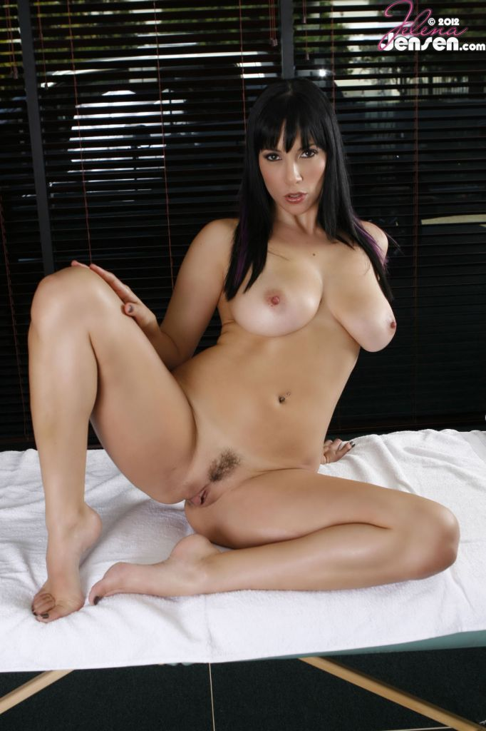 Lovely amp leggy jelena jensen talks comics amp beats her clit