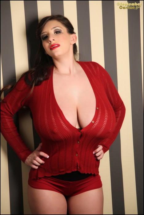 September carrino red sweater