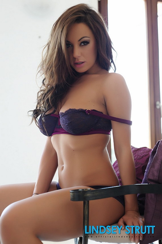 Lindsey Strutt in her purple lingerie – for more pics – CLICK HERE ...