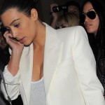 Kim Kardashian - cleavy candids in Miami