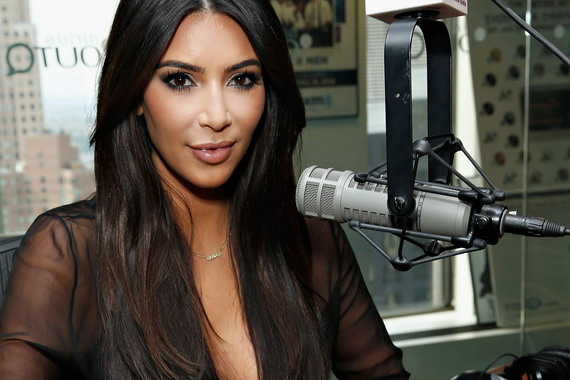 Kim Kardashian - cleavage at the SiriusXM Studios