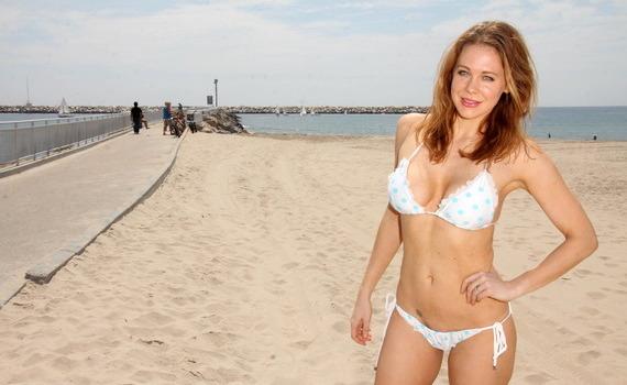 Maitland Ward - bikini candids in Marina Del Rey