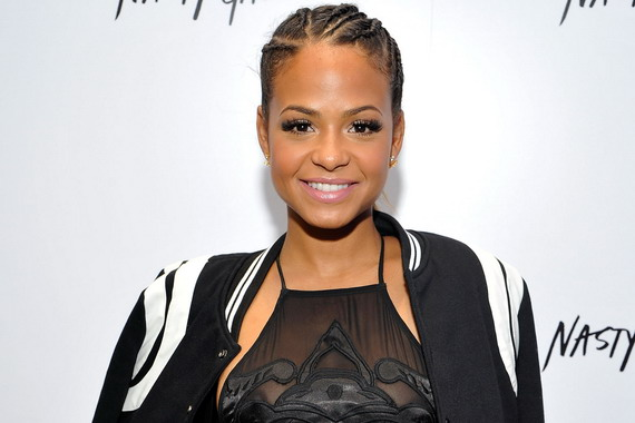 Christina Milian - see-thru top at Nasty Gal Melrose Store Launch