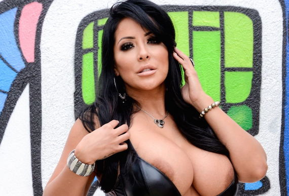 Kiara Mia in a Leather Dress and other Busty Links