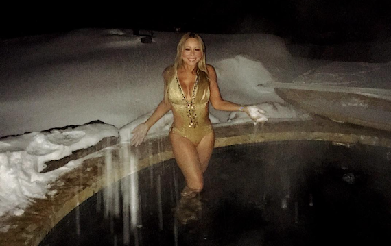 Baby, it's Cold Outside, but That Won't Stop Mariah Carey from Being Hot and other Busty Links