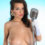 Jana Defi is a Classy Singer in a Slinky Blue Dress and other Busty Links