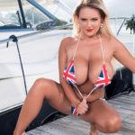 Katie Thornton – Rule, Britannia bikini